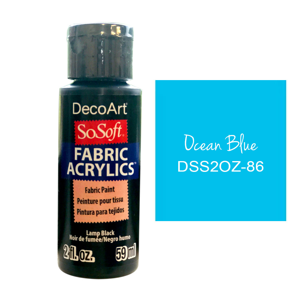 Deco Art - SoSoft Fabric Acrylic Paint 2oz - Ocean Blue