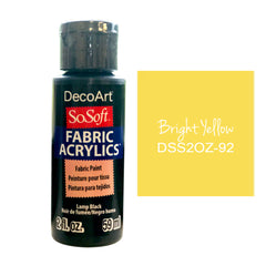 Deco Art - SoSoft Fabric Acrylic Paint 2oz - Bright Yellow