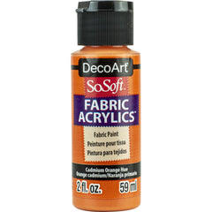 SoSoft Fabric Acrylic Paint 2oz - Bittersweet Orange