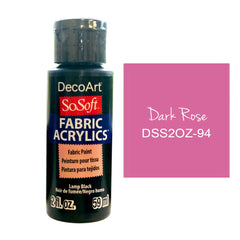 Deco Art - SoSoft Fabric Acrylic Paint 2oz - ark Rose