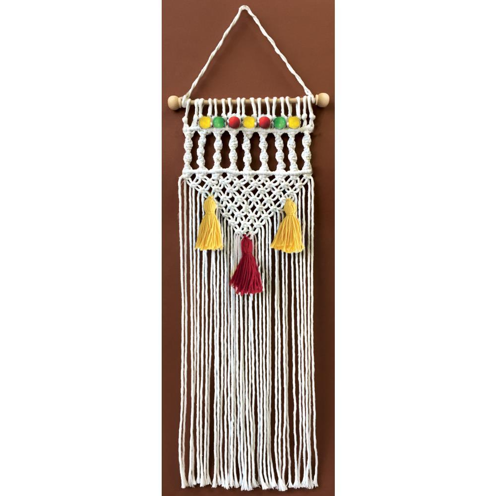 Design Works/Zenbroidery Macrame Wall Hanging Kit 8 inch X24 inch Natural Twist