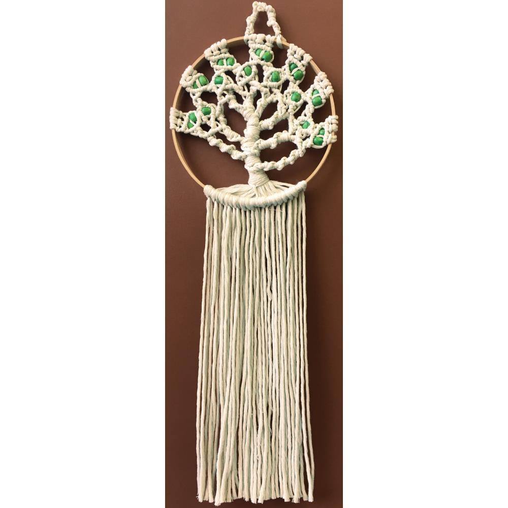 Design Works/Zenbroidery Macrame Wall Hanging Kit 8 inch X24 inch Tree Of Life