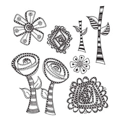 Dyan Reaveleys Dylusions Cling Stamp Collections 8.5 inch X7 inch Everythings Rosy
