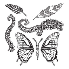 Dyan Reaveleys Dylusions Cling Stamp Collections 8.5 inch X7 inch Flight Of Fancy