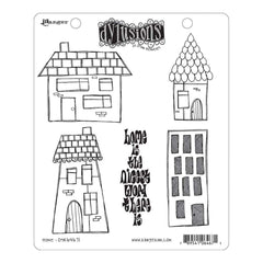 Dyan Reaveleys Dylusions Cling Stamp Collections 8.5 inch X7 inch - Home