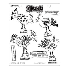 Dyan Reaveleys Dylusions Cling Stamp Collections 8.5 Inch X7 Inch Put A Bird On It