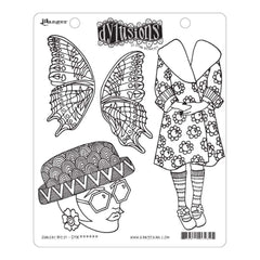 Dyan Reaveleys Dylusions Cling Stamp Collections 8.5 inch X7 inch - Sunday Best
