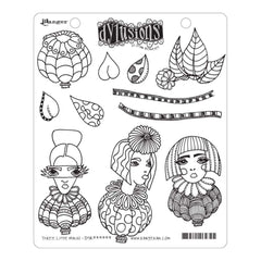 Dyan Reaveleys Dylusions Cling Stamp Collections 8.5 inch X7 inch - Three Little Maids