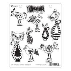 Dyan Reaveleys Dylusions Cling Stamp Collections 8.5X7 - Cat Among Pigeons