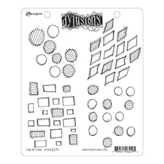 Dyan Reaveleys Dylusions Cling Stamp Collections 8.5x7 Four By Four