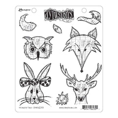 Dyan Reaveleys Dylusions Cling Stamp Collections 8.5x7 Heads N Tails