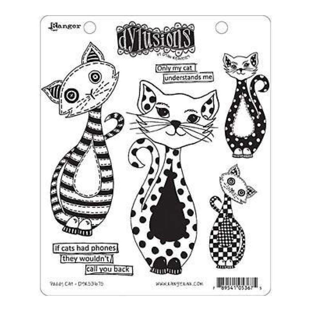 Dyan Reaveley's Dylusions Cling Stamp Collections 8.5X7 Puddy Cat