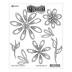 Dyan Reaveley's Dylusions Cling Stamp Collections 8.5X7in Fancy Florals