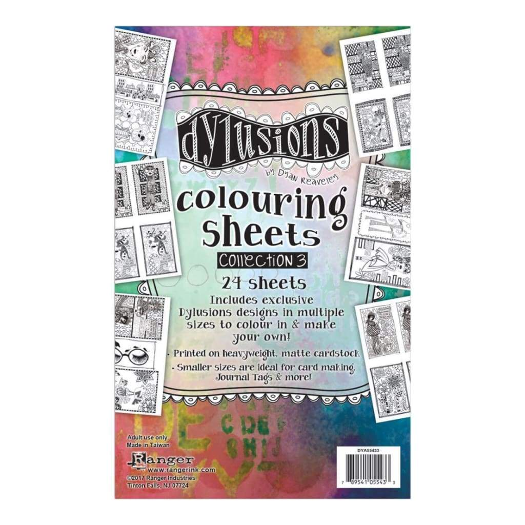 Dyan Reaveleys Dylusions Colouring Sheets #3 5X8 2 Each Of 12 Designs
