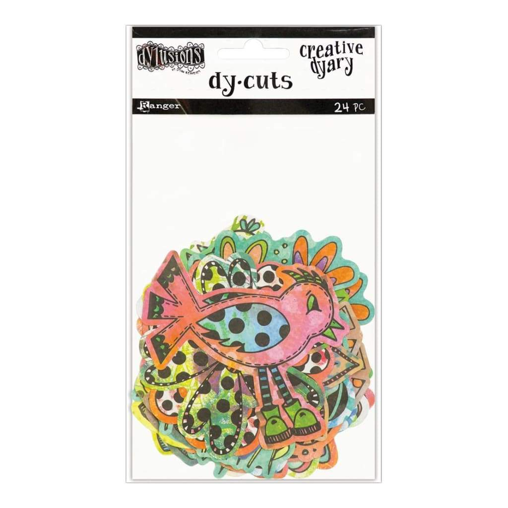 Dyan Reaveleys Dylusions Creative Dyary Die Cuts Colored Birds & Flowers