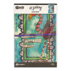 "Dyan Reaveley's Dylusions Dyalog Canvas Printed Cover Frame 5""X8"""