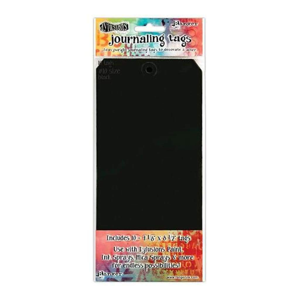 Dyan Reaveley's Dylusions Journal Tags 10 Pack  - Black #10