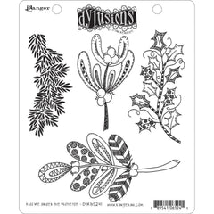 Dyan Reaveleys Dylusions Cling Stamp Collections 8.5inch X7inch - Kiss Me Under The Mistletoe