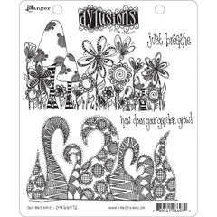 Dyan Reaveleys Dylusions Cling Stamp Collections 8.5 inch X7 inch - Just Breathe