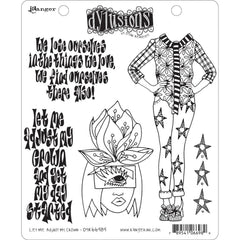 Dyan Reaveleys Dylusions Cling Stamp Collections 8.5 inch X7 inch - Let Me Adjust My Crown