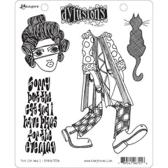 Dyan Reaveleys Dylusions Cling Stamp Collections 8.5 inch X7 inch - The Cat & I