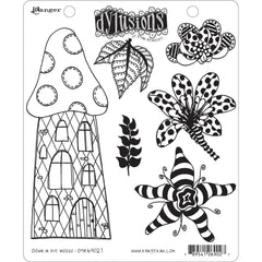 Dyan Reaveleys Dylusions - Cling Stamps 8.5 inchX7 inch - Down In The Woods