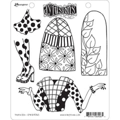 Dyan Reaveleys Dylusions - Cling Stamps 8.5 inchX7 inch - Paper Doll