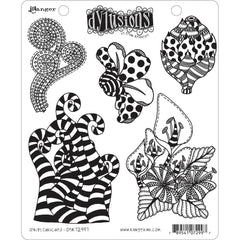 Dyan Reaveleys Dylusions Cling Stamp Collections 8.5in x 7in - Stripy Curlicues