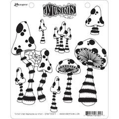 Dyan Reaveleys Dylusions Cling Stamp Collections 8.5in x 7in - Theres No Mushroom In Here!