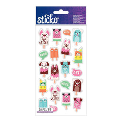 American Crafts - Sticko - Dimensional Stickers - PupCicles