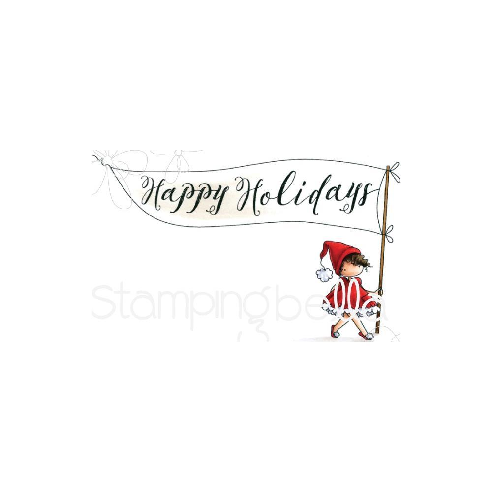 Stamping Bella Cling Stamps - Happy Holidays Teeny Tiny Townie