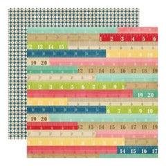 Echo Park - Beautiful Life - Rulers 12X12 Inch Double-Sided Paper (Pack Of 10)