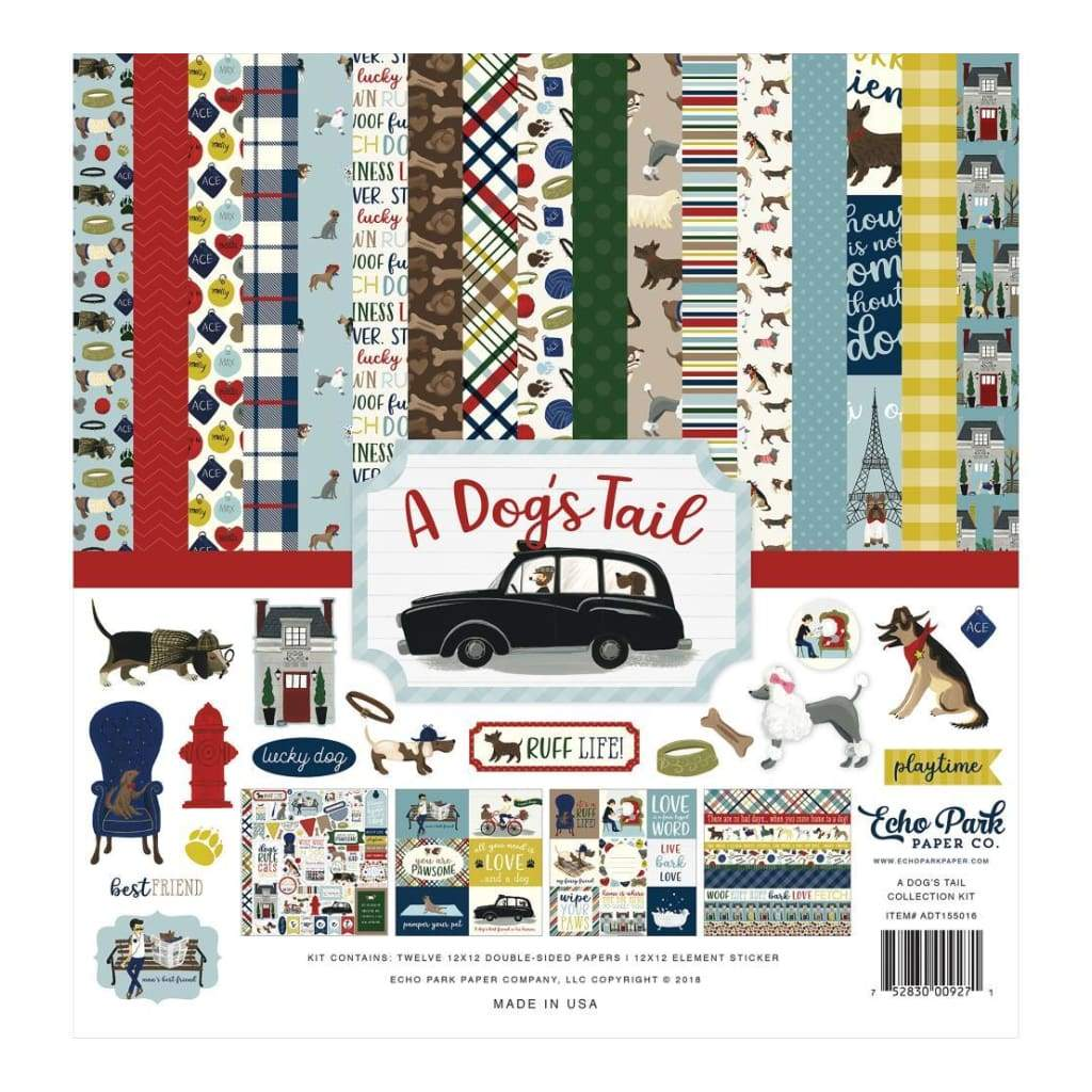 Echo Park Collection Kit 12 inch X12 inch A Dogs Tail