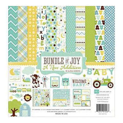 Echo Park Collection Kit 12X12 Bundle Of Joy/A New Addition - Baby Boy