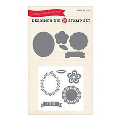 Echo Park Die & Stamp Combo Set Simple Hello