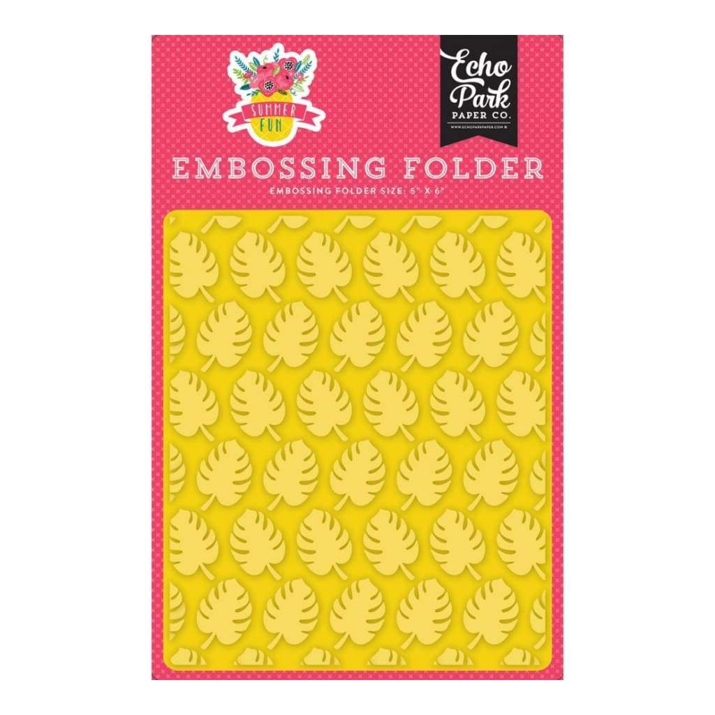 Echo Park Embossing Folder 5X5.875 Summer Fun, Perfect Palm
