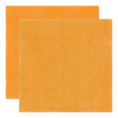 Echo Park - Essentials - Dots Primary - Mango Tiny Dots 12X12 Inch Double-Sided Paper (Pack Of 10)