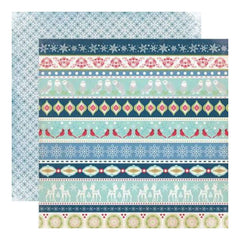 Echo Park - Keepin Cosy - Border Strips 12X12 Inch Double-Sided Paper (Pack Of 10)