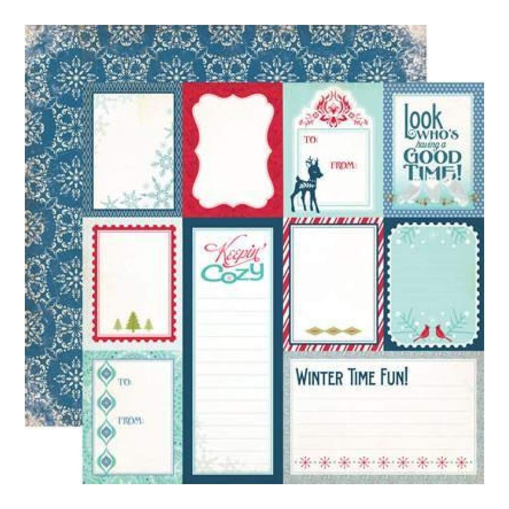 Echo Park - Keepin Cosy - Journaling Cards 12X12 Inch Double-Sided Paper (Pack Of 10)