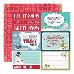 Echo Park - Keepin Cosy - Let It Snow 12X12 Inch Double-Sided Paper (Pack Of 10)