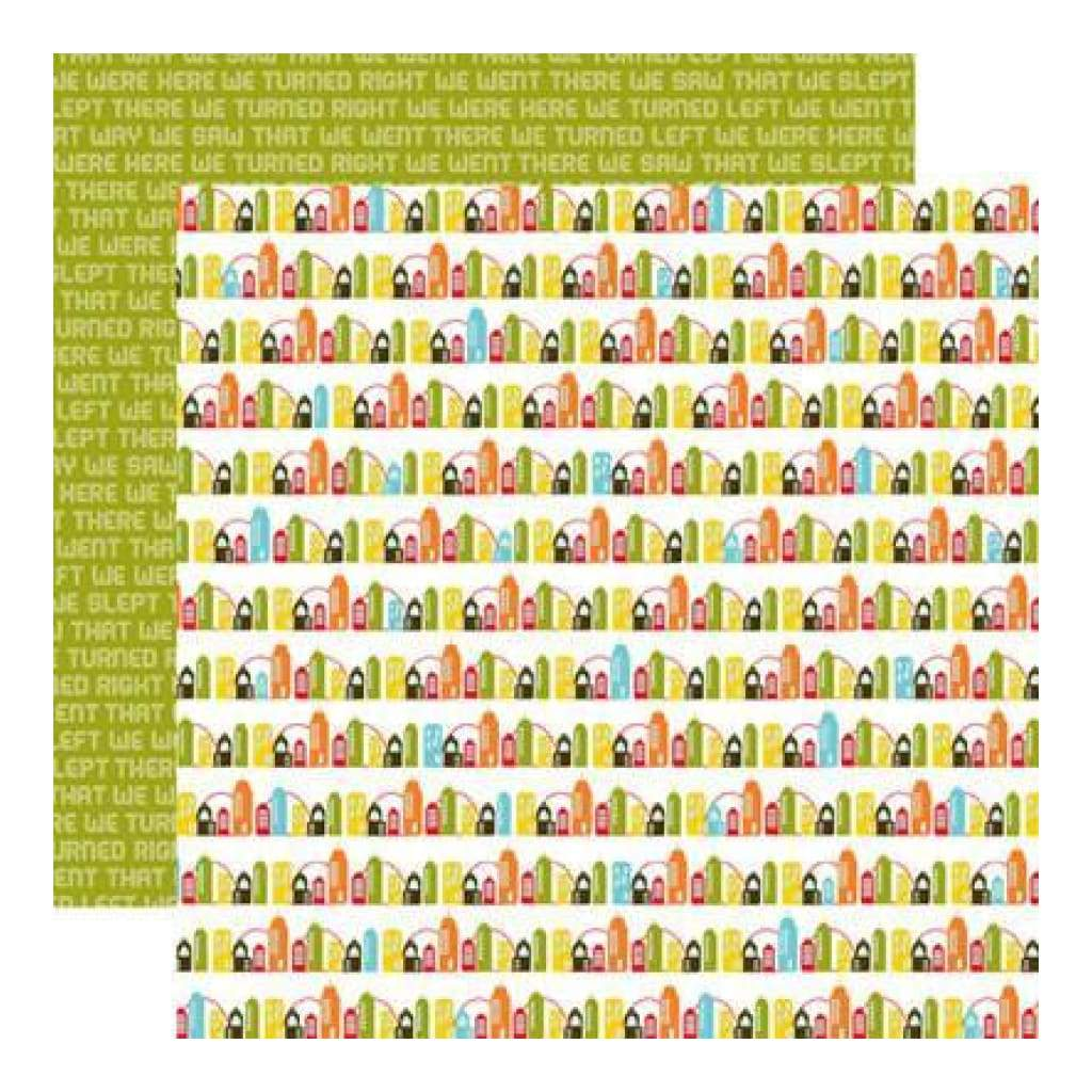 Echo Park - Mini Themes - Enjoy The Ride - Big City 12X12 Inch Double-Sided Paper (Pack Of 10)