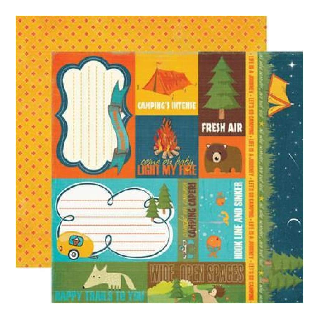 Echo Park - Mini Themes - The Great Outdoors Journaling 12X12 Inch Double-Sided Paper (Pack Of 10)