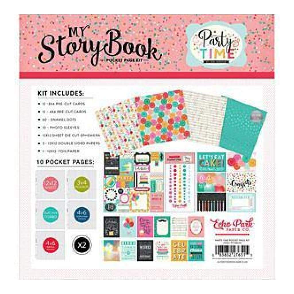Echo Park My Storybook Pocket Page Kit 12In. X12in.  Party Time