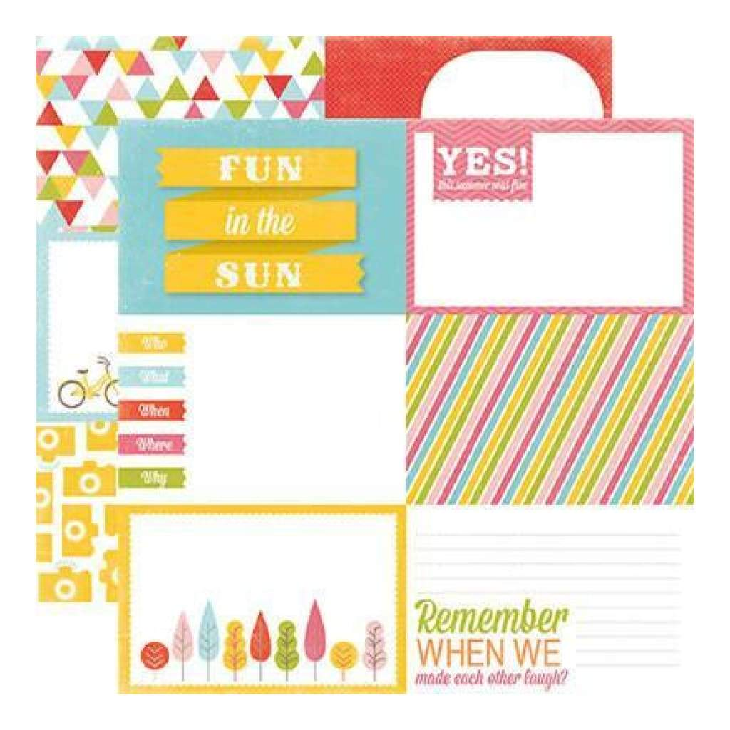 Echo Park - Photo Freedom - Fun In The Sun - Fun In The Sun 12X12 Inch Double-Sided Paper (Pack Of 10)