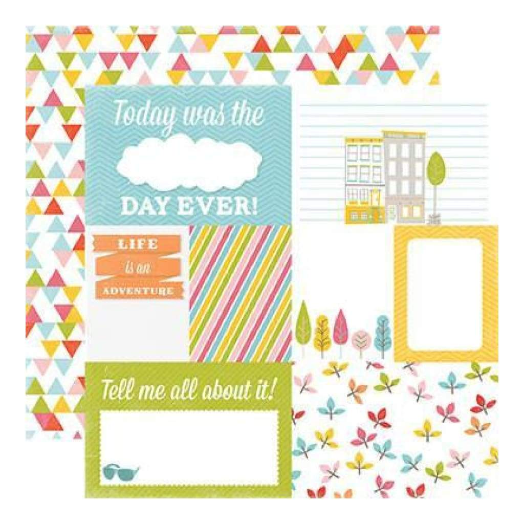 Echo Park - Photo Freedom - Fun In The Sun - Easy Breezy 12X12 Inch Double-Sided Paper (Pack Of 10)