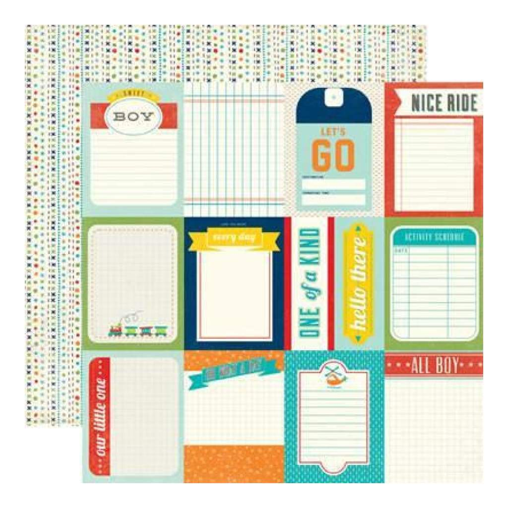 Echo Park - Scoot - 3X4 Journaling Cards 12X12 Inch Double-Sided Paper (Pack Of 10)