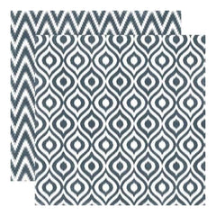 Echo Park - Style Essentials - 5Th Avenue - Graphite Ikat 12X12 Inch Double-Sided Paper (Pack Of 10)