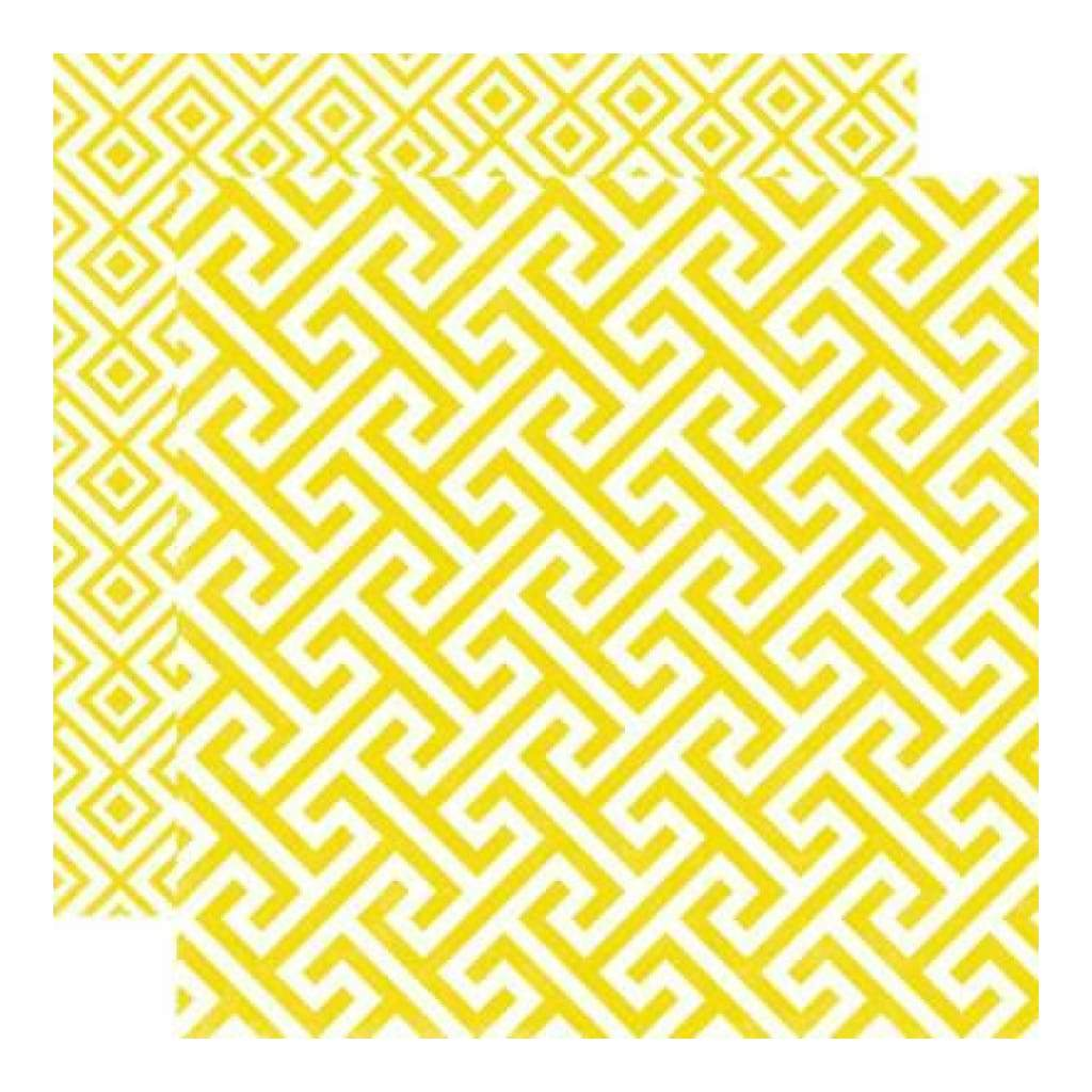 Echo Park - Style Essentials - 5Th Avenue - Sequin Geometric 12X12 Inch Double-Sided Paper (Pack Of 10)