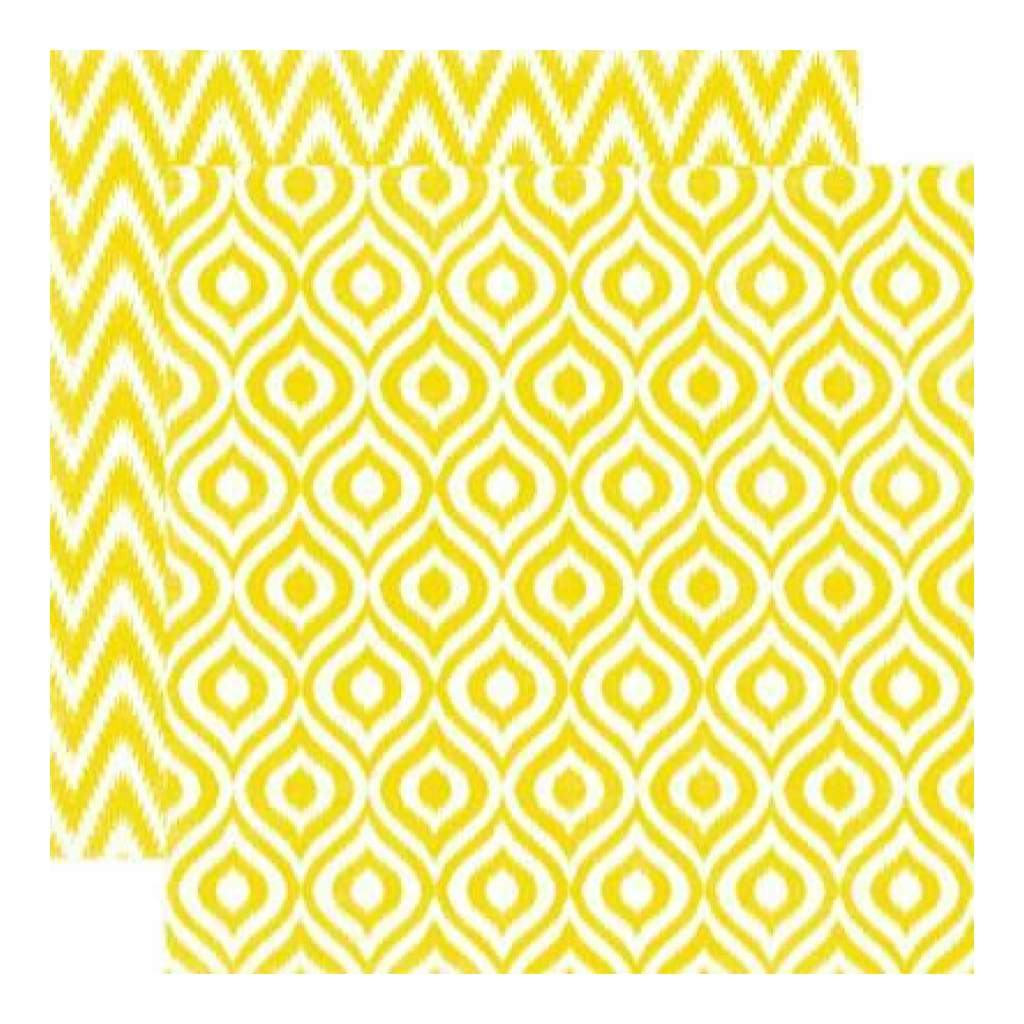 Echo Park - Style Essentials - 5Th Avenue - Sequin Ikat 12X12 Inch Double-Sided Paper (Pack Of 10)