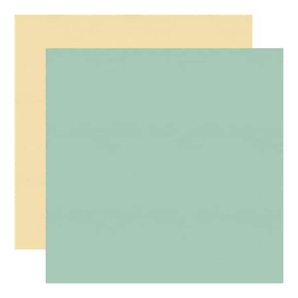 Echo Park - Sweet Day - Dark Teal/Yellow 12X12 Inch Double-Sided Paper (Pack Of 10)